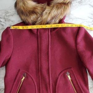 J. Crew Jackets & Coats - J Crew Chateau Parka Wool Coat Faux Fur Hoodie